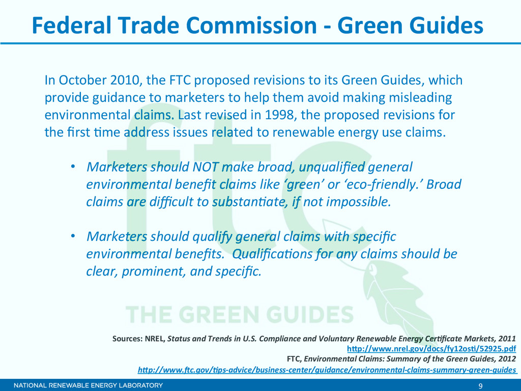 9  Federal Trade Commission -‐ ...