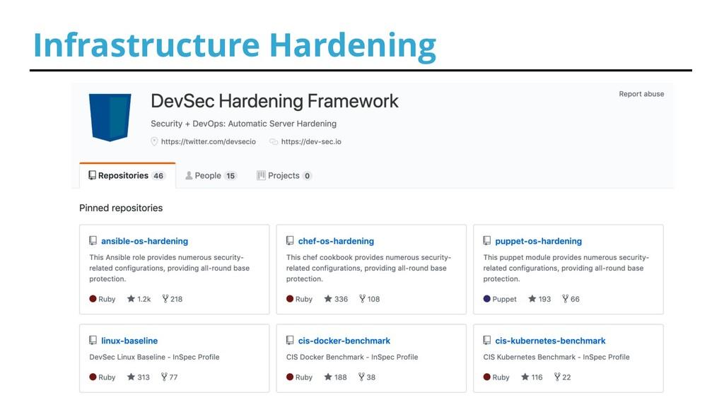 Infrastructure Hardening