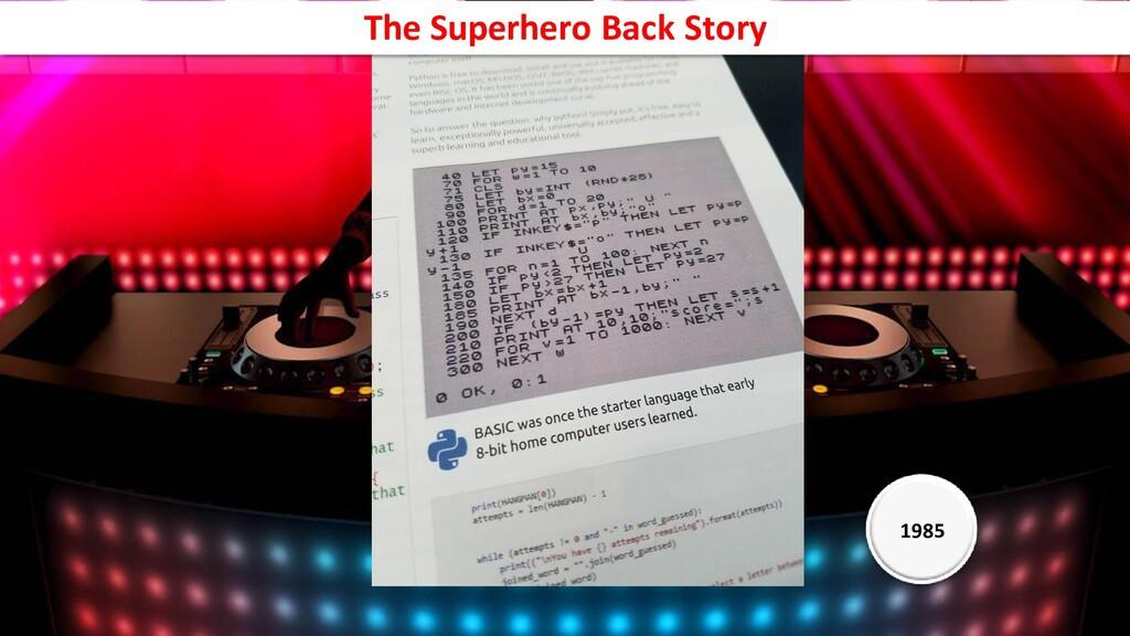 1976 1985 The Superhero Back Story