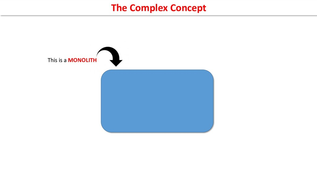 This is a MONOLITH The Complex Concept
