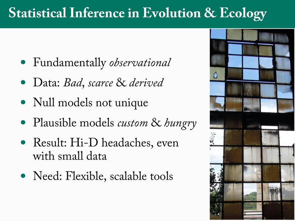 Statistical Inference in Evolution & Ecology • ...