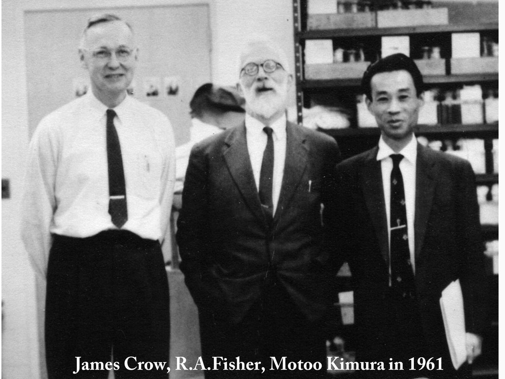 James Crow, R.A.Fisher, Motoo Kimura in 1961