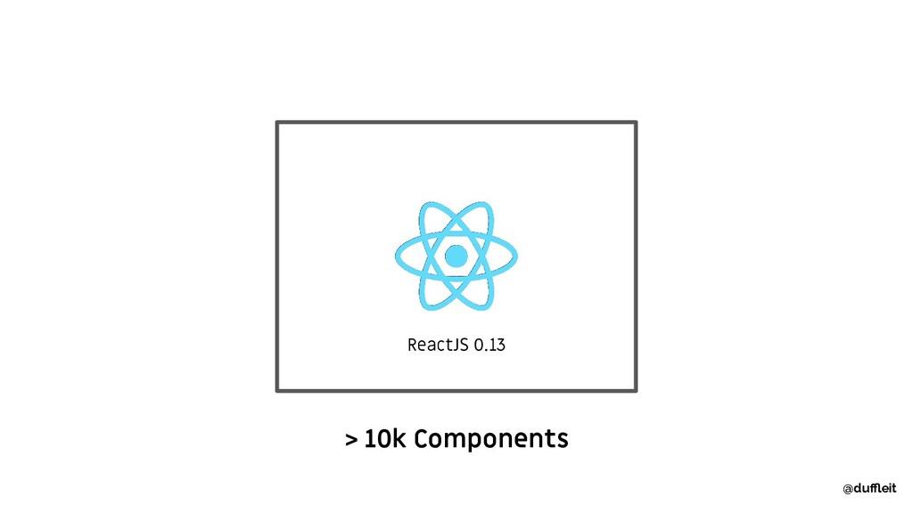 > 10k Components @duffleit ReactJS 0.13
