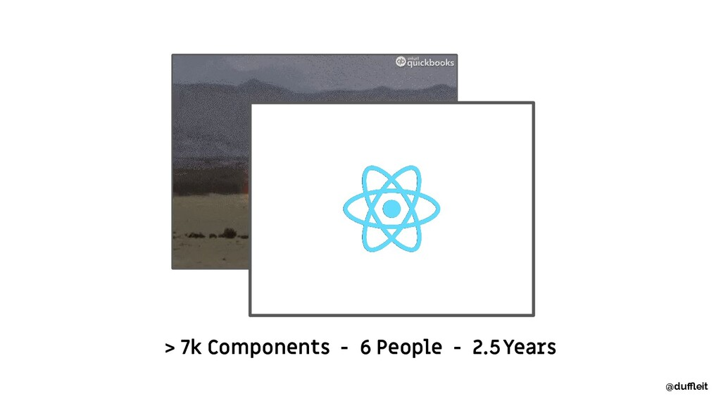 > 7k Components - 6 People - 2.5 Years @duffleit