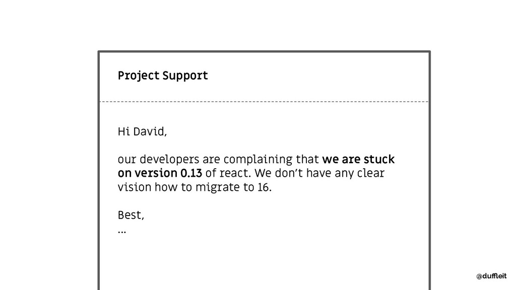 Project Support Hi David, our developers are co...