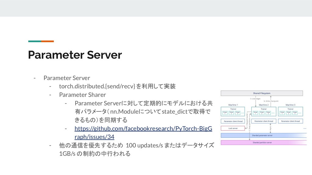 - Parameter Server - torch.distributed.{send/re...