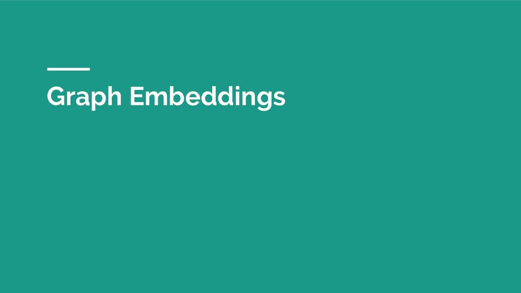 Graph Embeddings