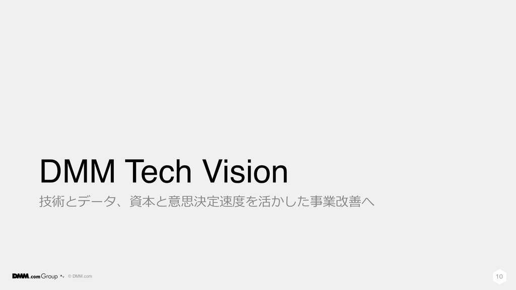 © DMM.com DMM Tech Vision 技術とデータ、資本と意思決定速度を活かした...