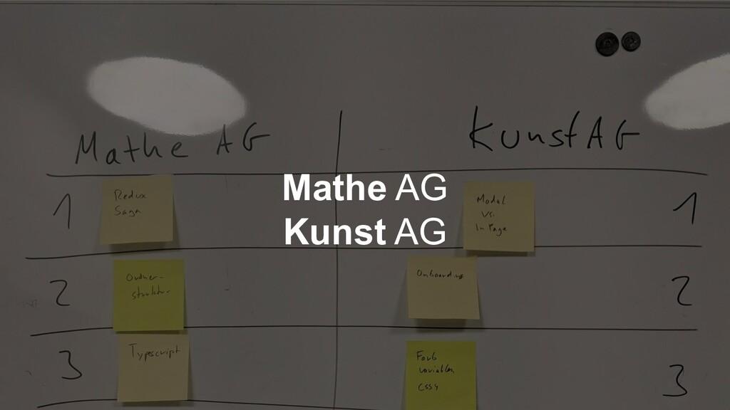 Mathe AG Kunst AG