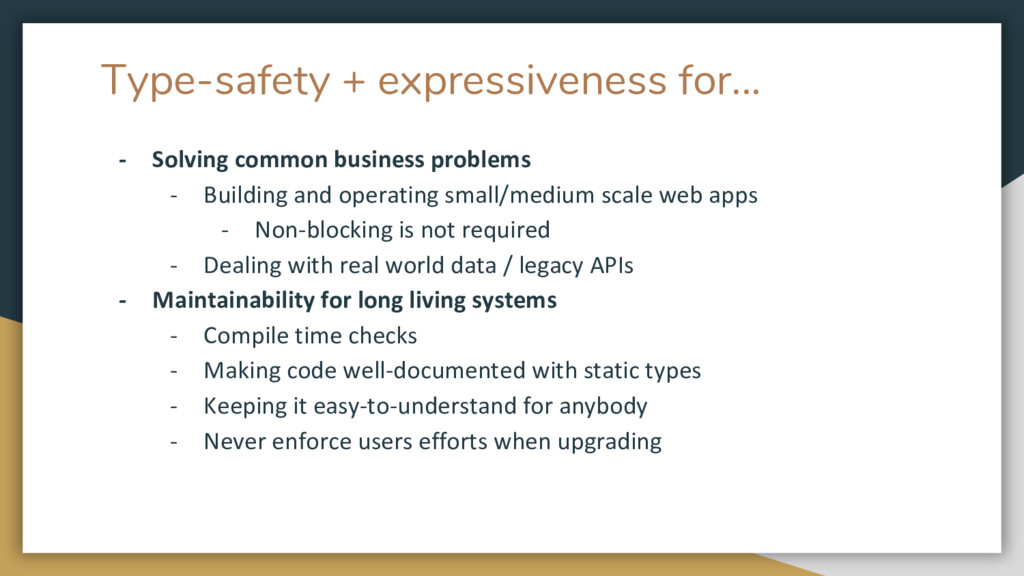 Type-safety + expressiveness for... - Solving c...