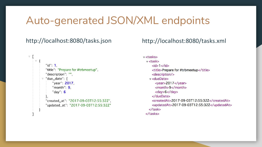 Auto-generated JSON/XML endpoints http://localh...