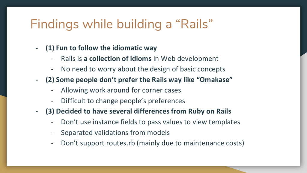 "Findings while building a ""Rails"" - (1) Fun to ..."