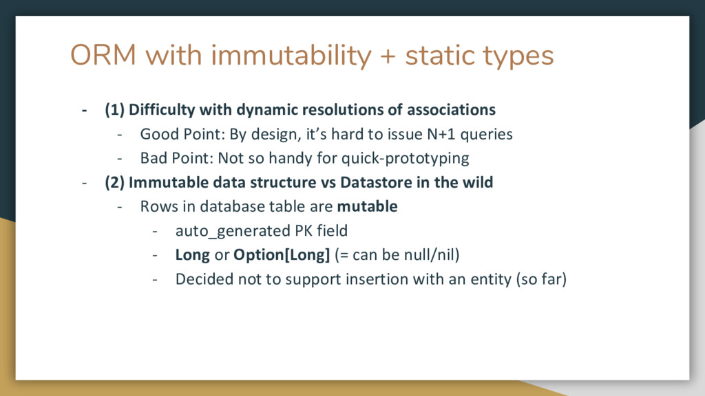 ORM with immutability + static types - (1) Diff...