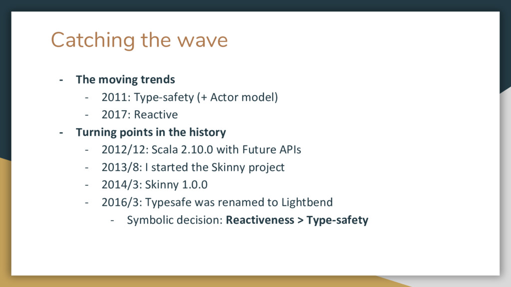 Catching the wave - The moving trends - 2011: T...