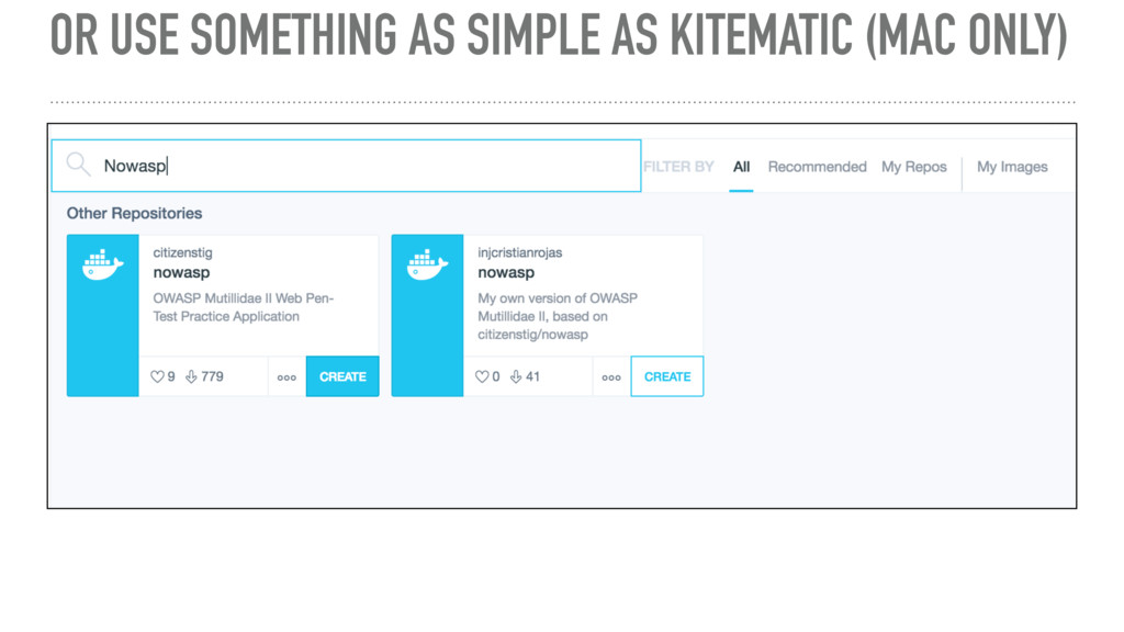 OR USE SOMETHING AS SIMPLE AS KITEMATIC (MAC ON...