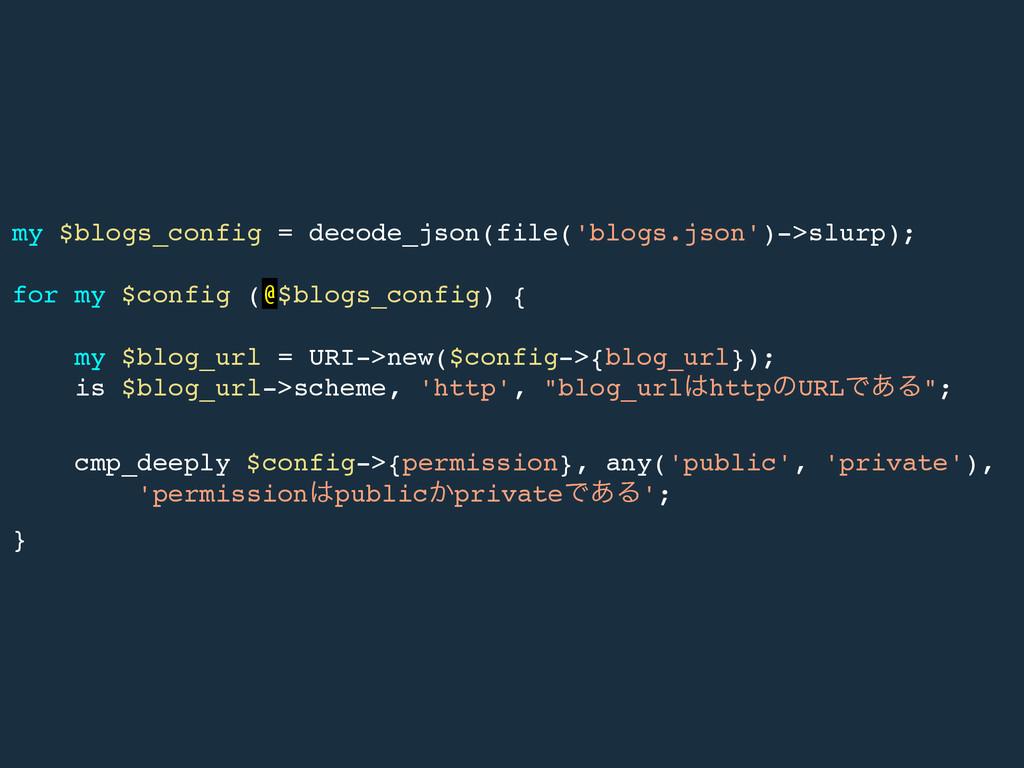 my $blogs_config = decode_json(file('blogs.json...