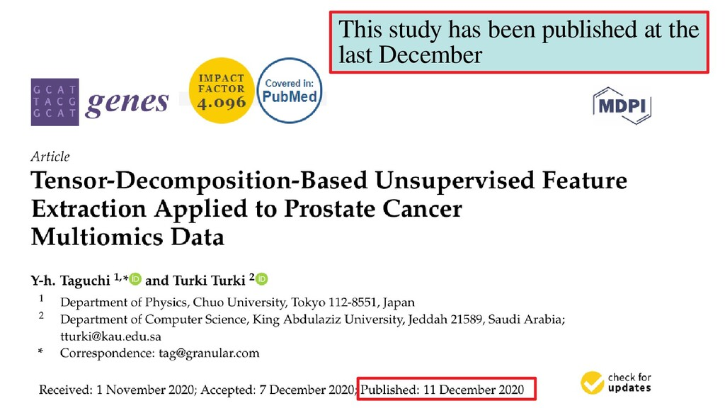 This study has been published at the last Decem...