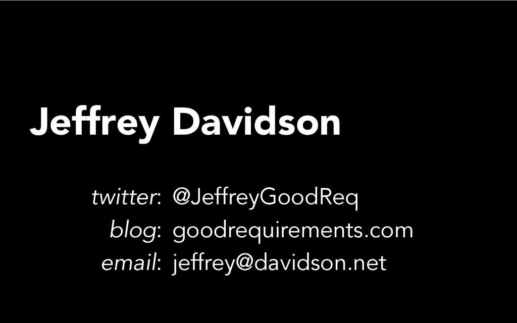 Jeffrey Davidson twitter: @JeffreyGoodReq blog:...
