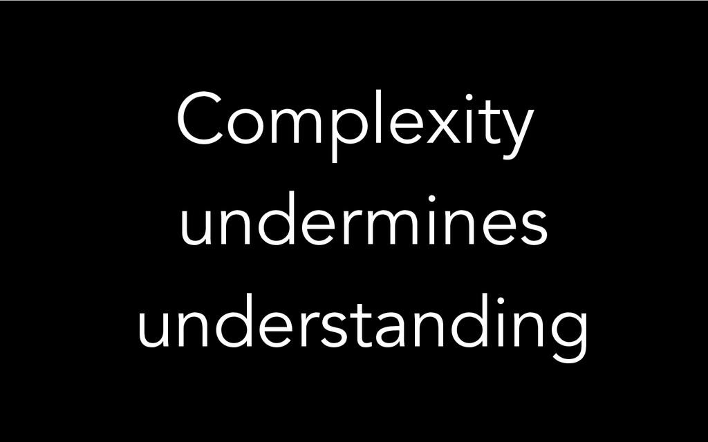 Complexity undermines understanding