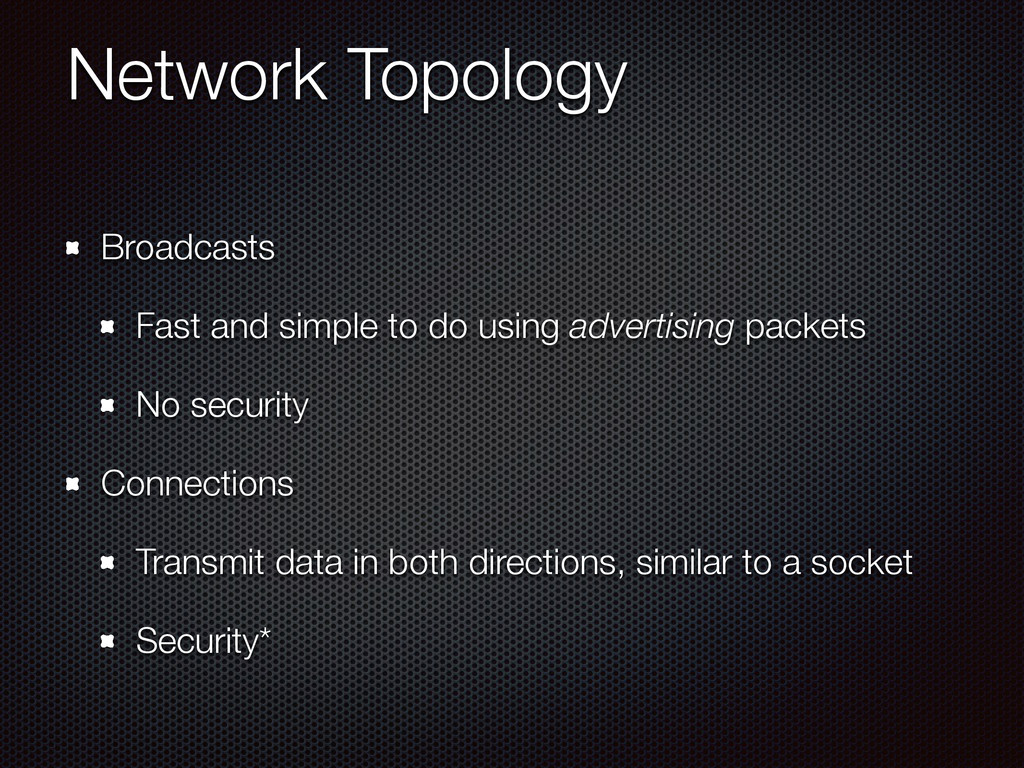 Network Topology Broadcasts Fast and simple to ...