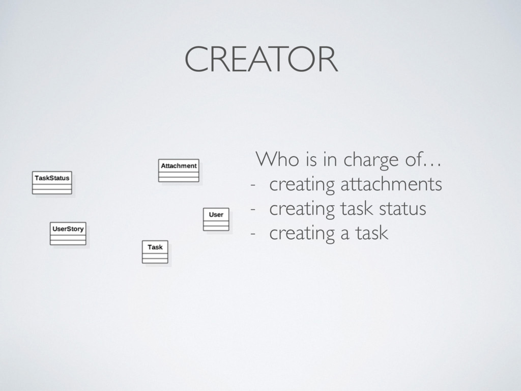 CREATOR Who is in charge of… - creating attachm...