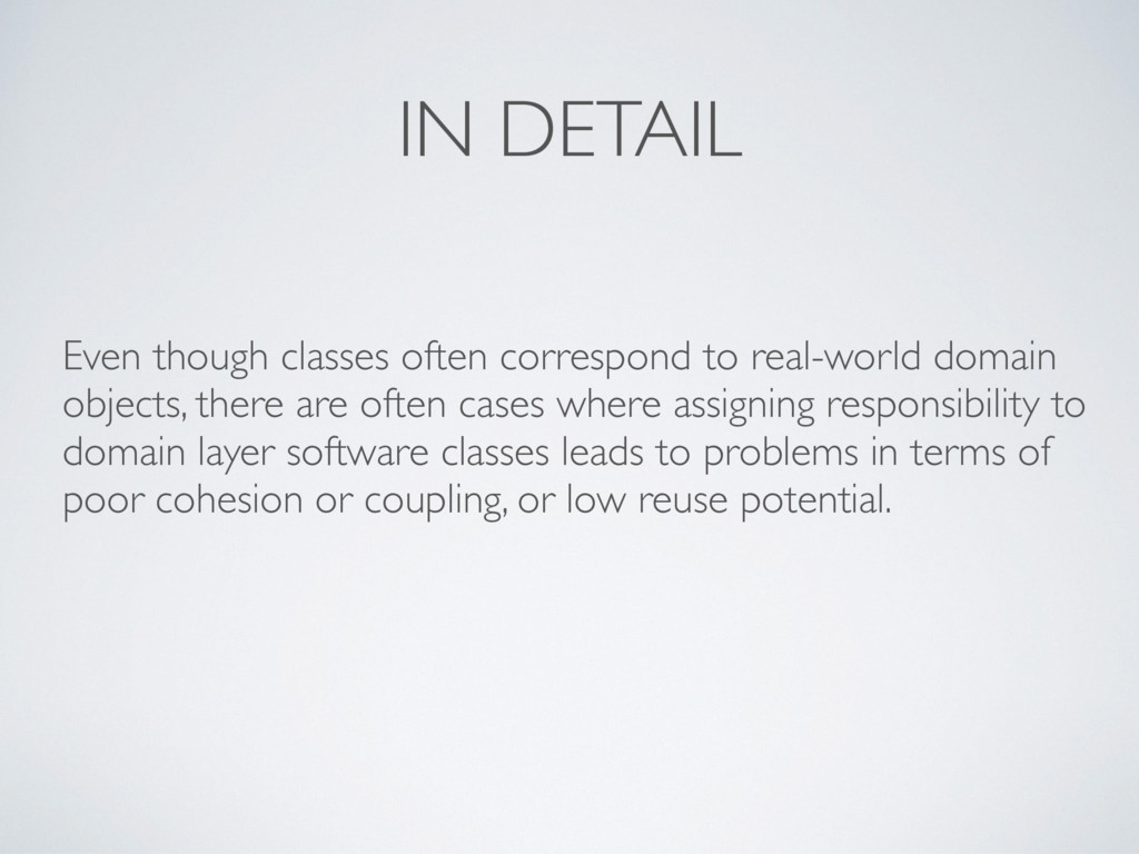 IN DETAIL Even though classes often correspond ...