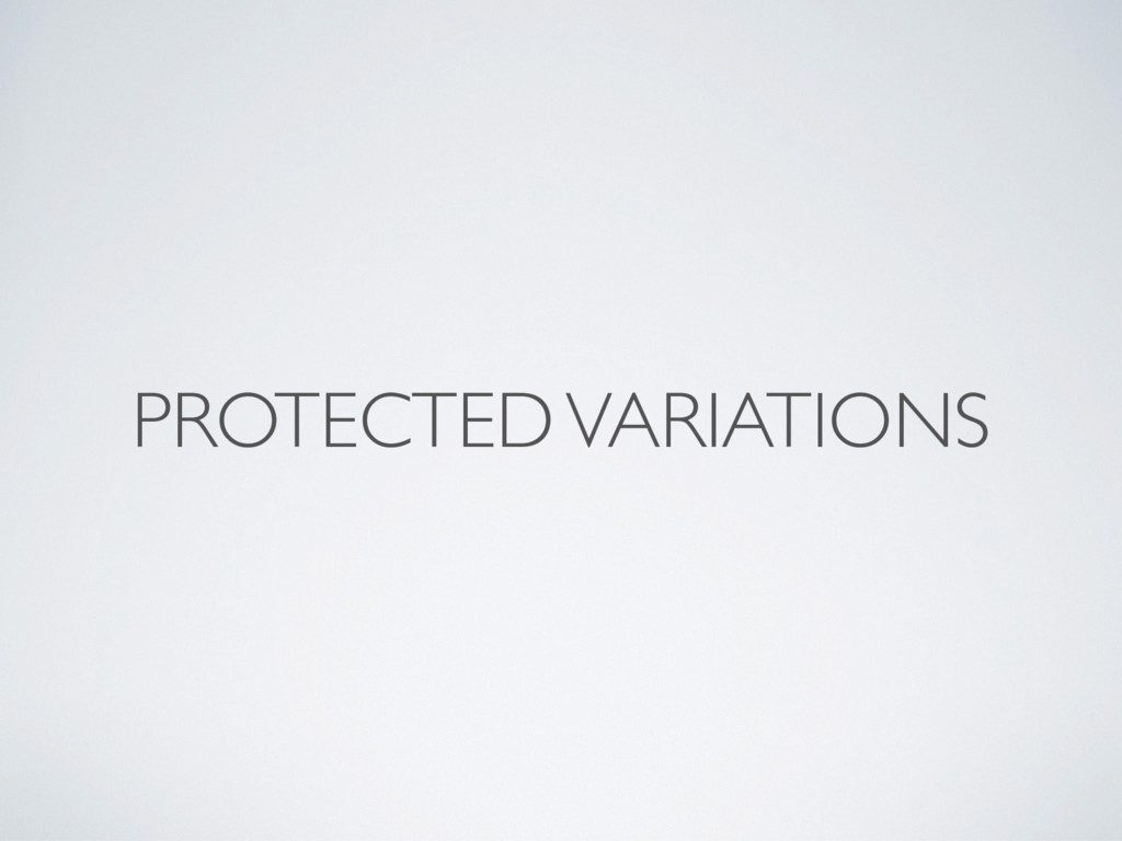 PROTECTED VARIATIONS