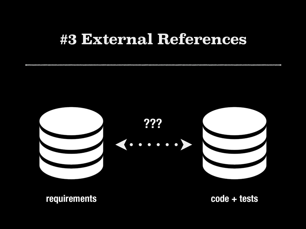 #3 External References ??? requirements code + ...