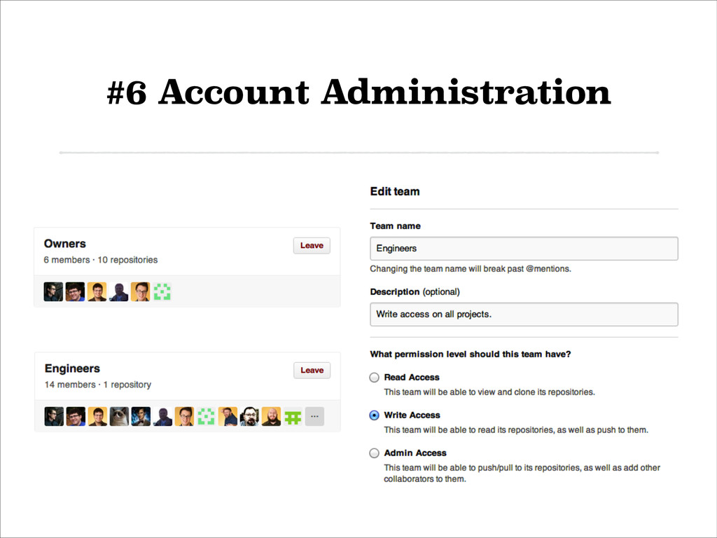 #6 Account Administration