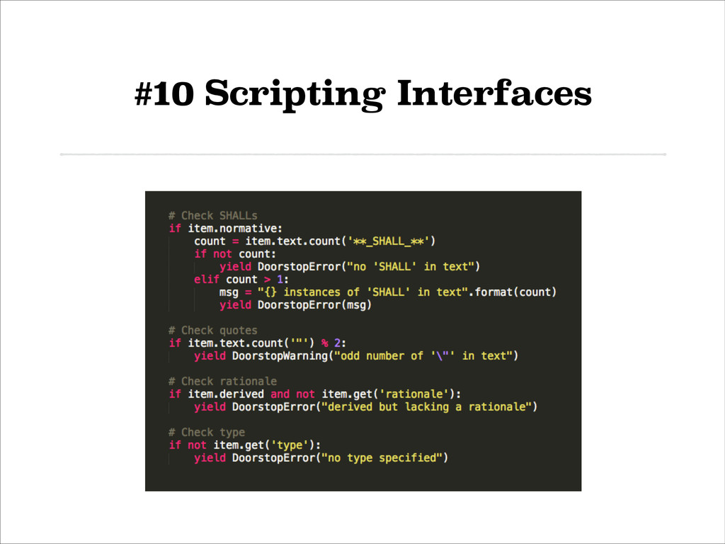 #10 Scripting Interfaces