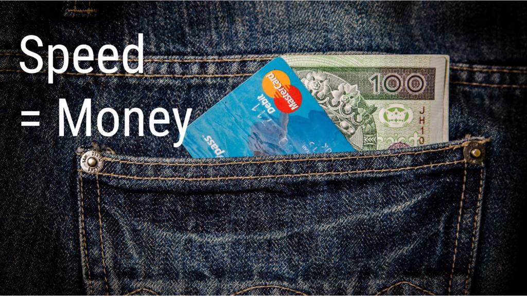Speed = Money