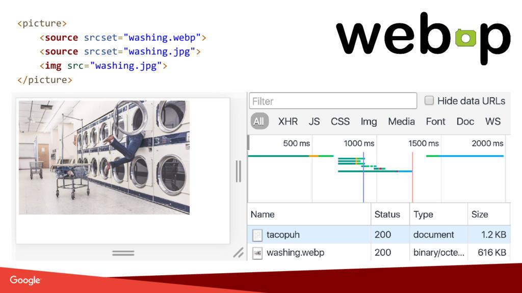 "<picture> <source srcset=""washing.webp""> <sourc..."