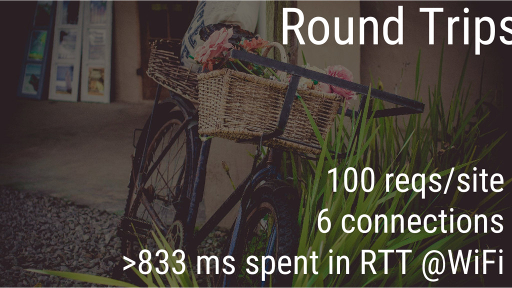 Round Trips 100 reqs/site 6 connections >833 ms...