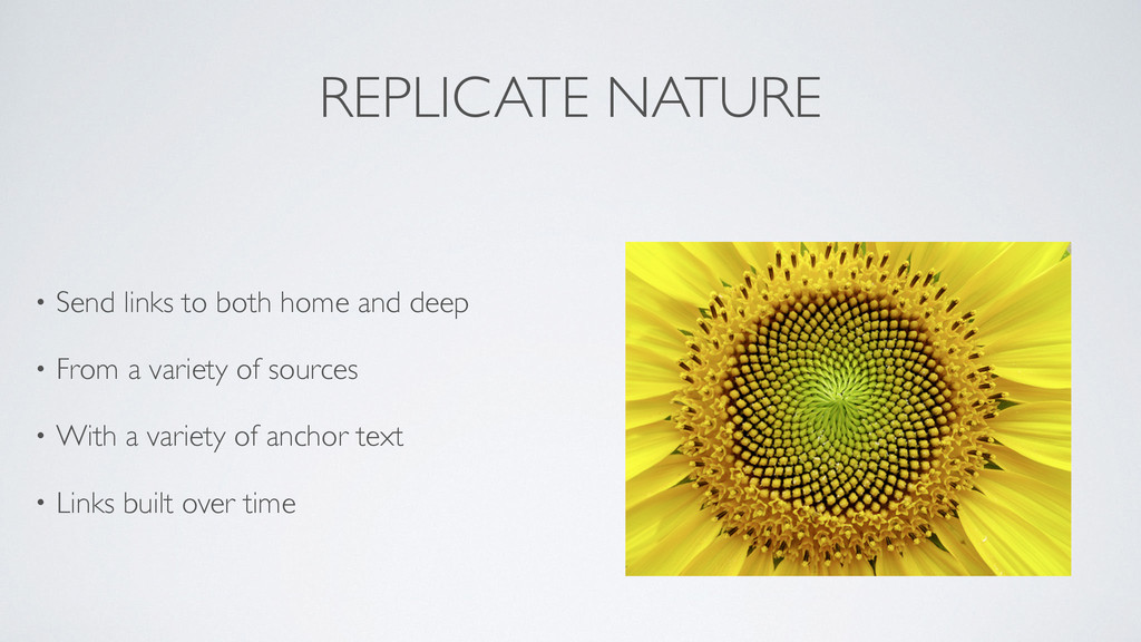 REPLICATE NATURE • Send links to both home and ...