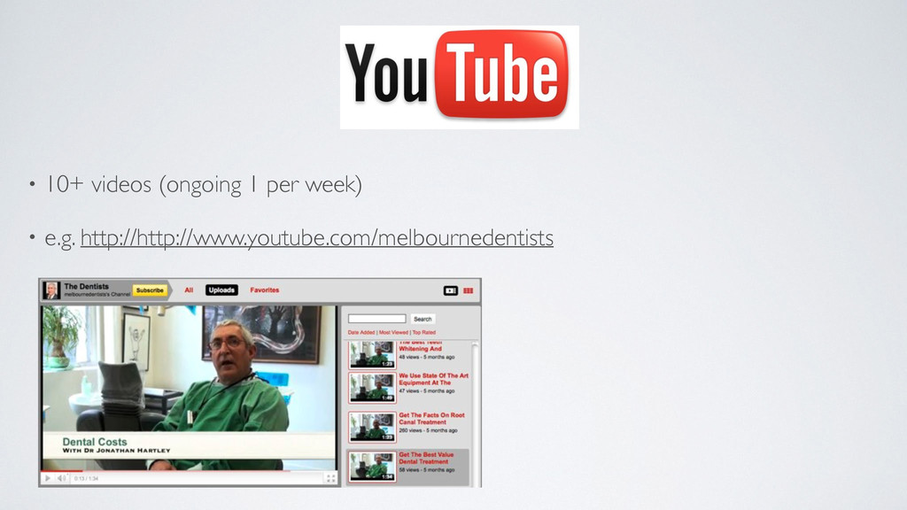 YOUTUBE • 10+ videos (ongoing 1 per week)   •...