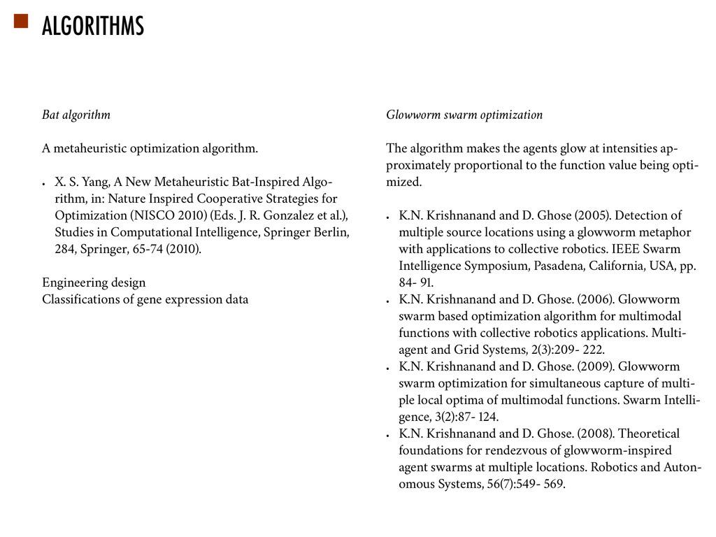 ALGORITHMS Bat algorithm A metaheuristic optimi...