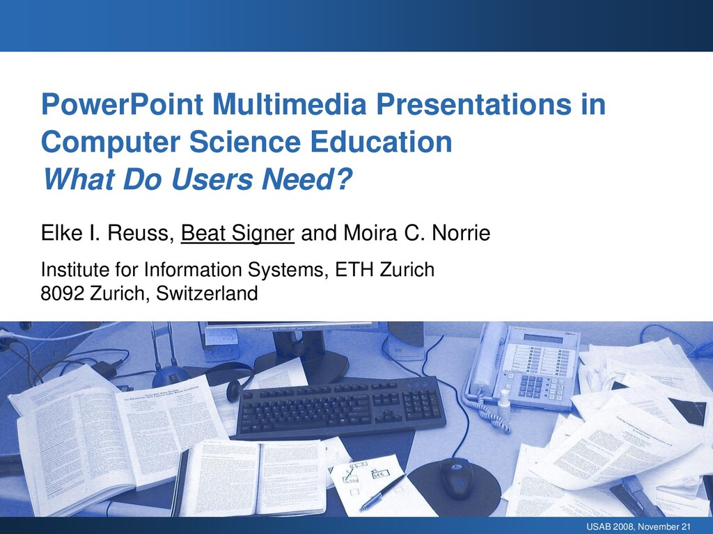 USAB 2008, November 21 PowerPoint Multimedia Pr...