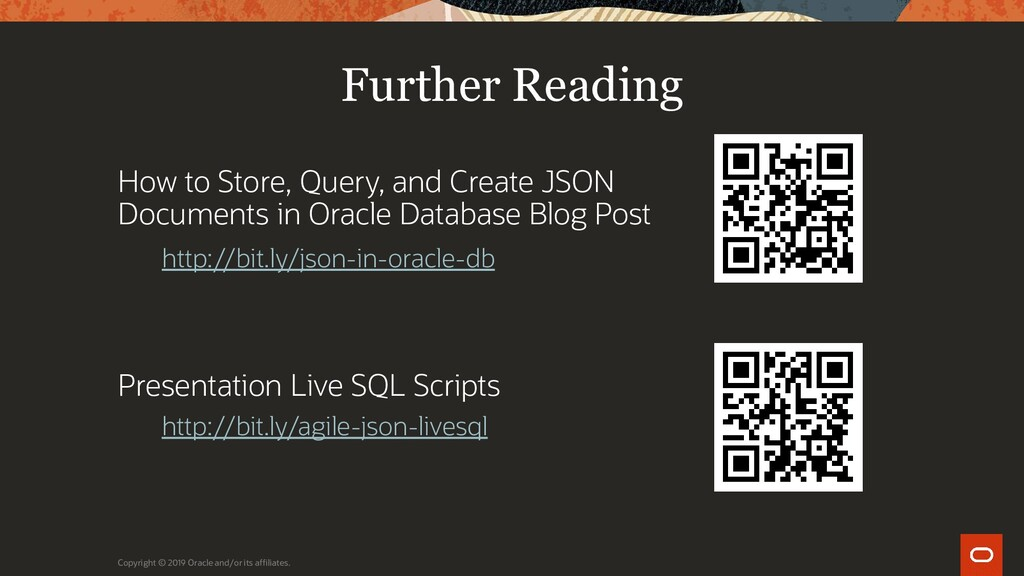 Further Reading How to Store, Query, and Create...