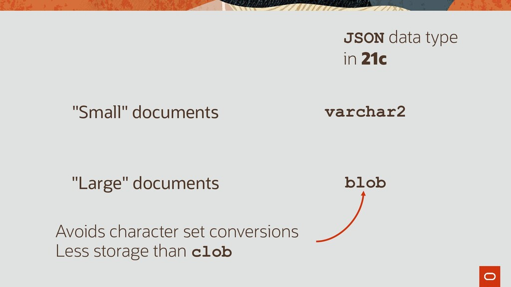 """""""Small"""" documents varchar2 """"Large"""" documents bl..."""