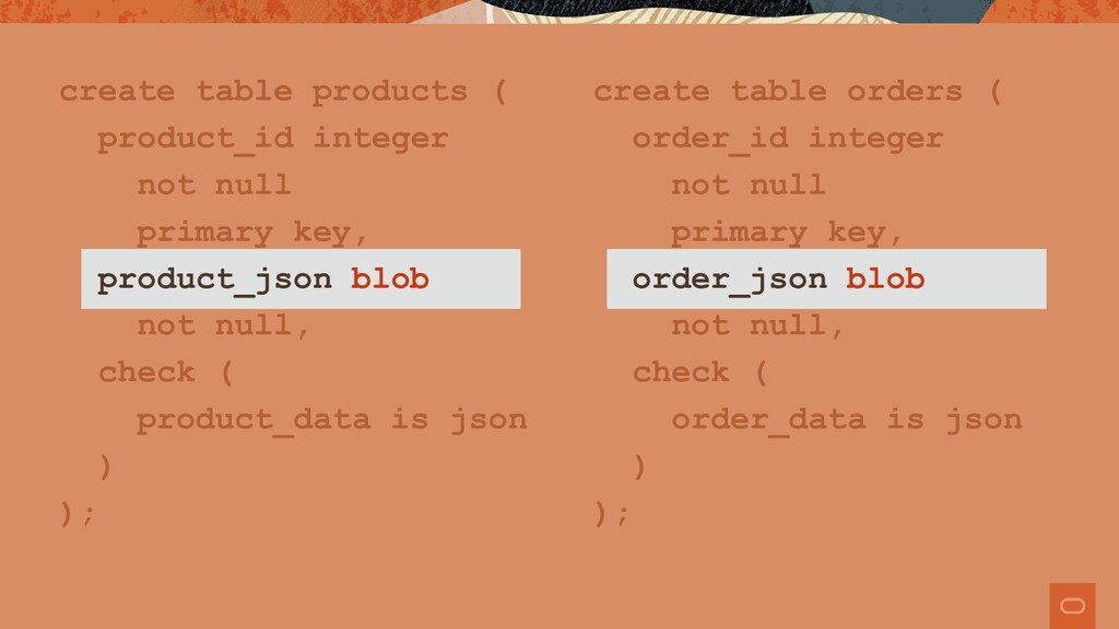 create table products ( product_id integer not ...