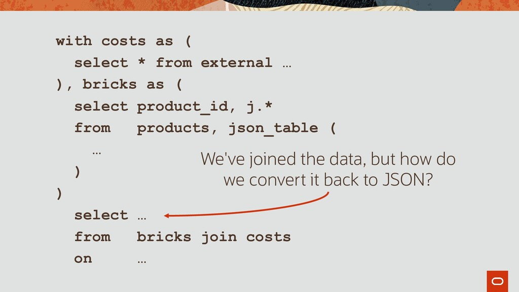 with costs as ( select * from external … ), bri...