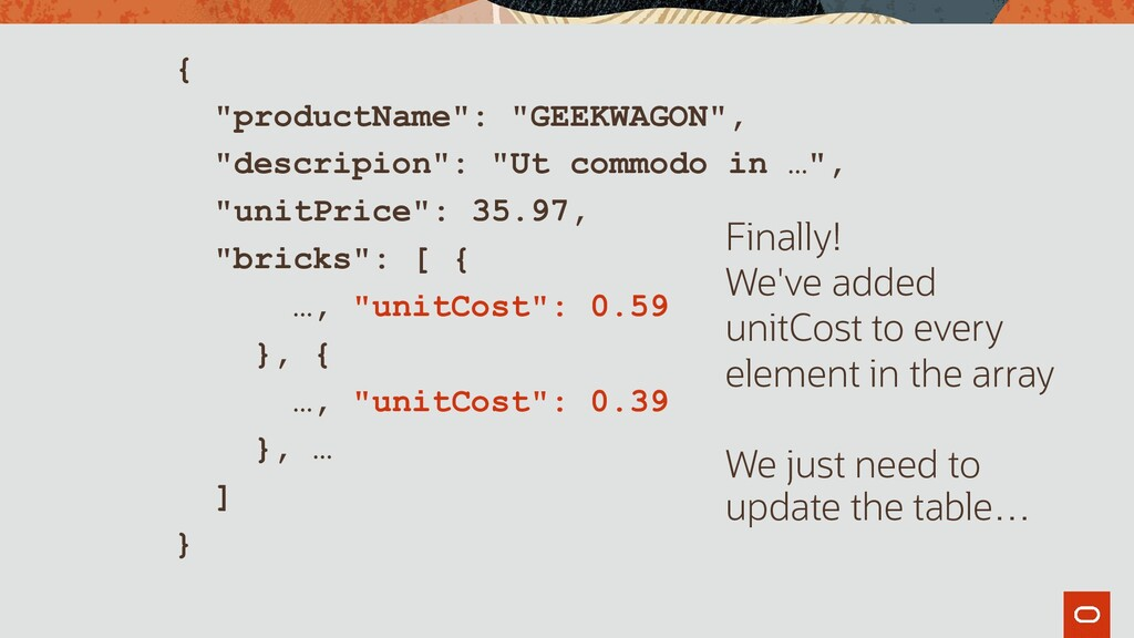 "{ ""productName"": ""GEEKWAGON"", ""descripion"": ""Ut..."