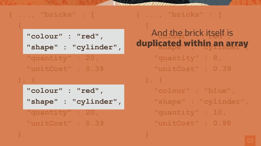 "{ ..., ""bricks"" : [ { ""colour"" : ""red"", ""shape""..."