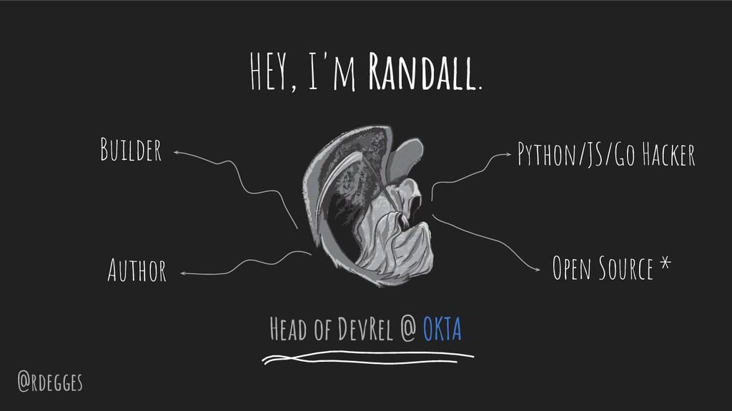 @rdegges HEY, I'm Randall. Head of DevRel @ OKT...