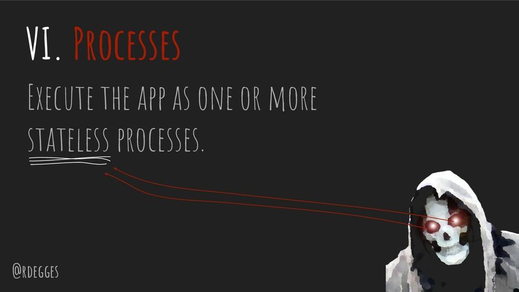 @rdegges VI. Processes Execute the app as one o...