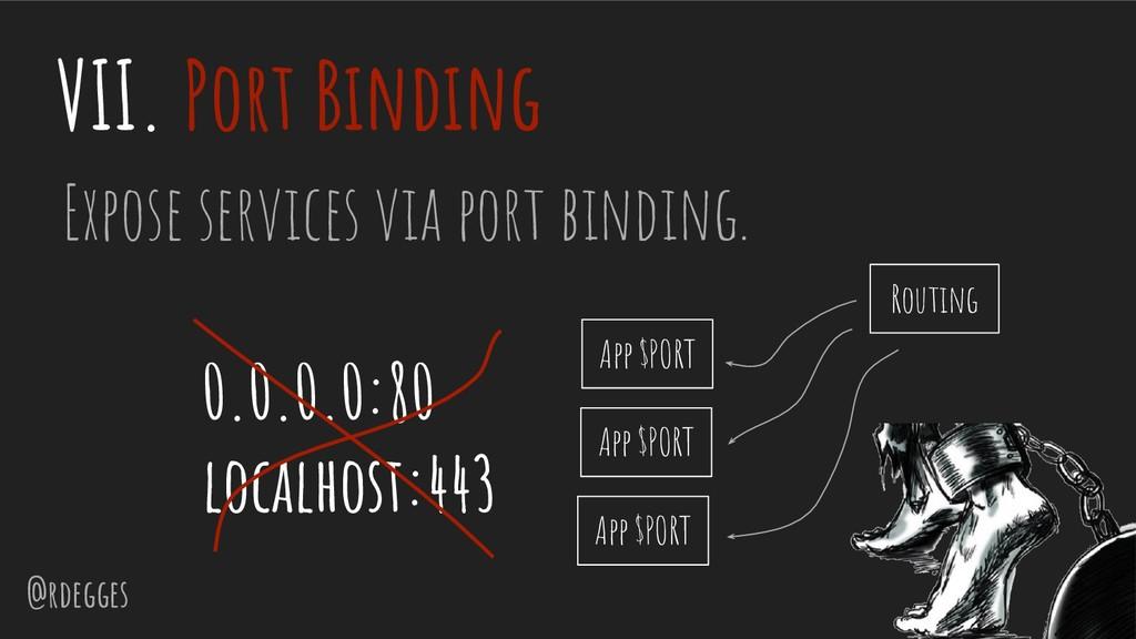 @rdegges VII. Port Binding Expose services via ...