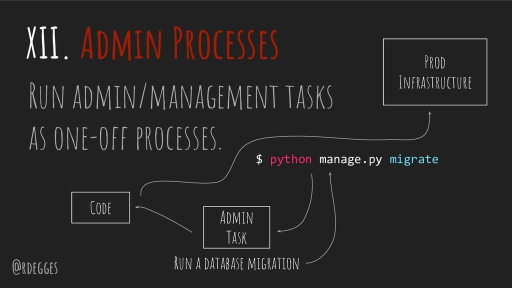 @rdegges XII. Admin Processes Run admin/managem...