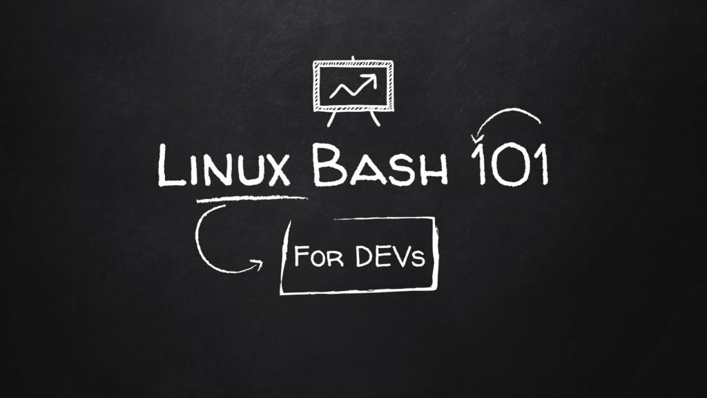 Linux Bash 101 For DEVs