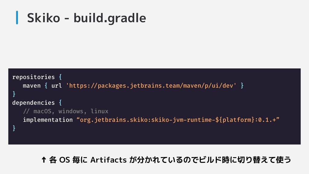 Skiko - build.gradle repositories { maven { url...