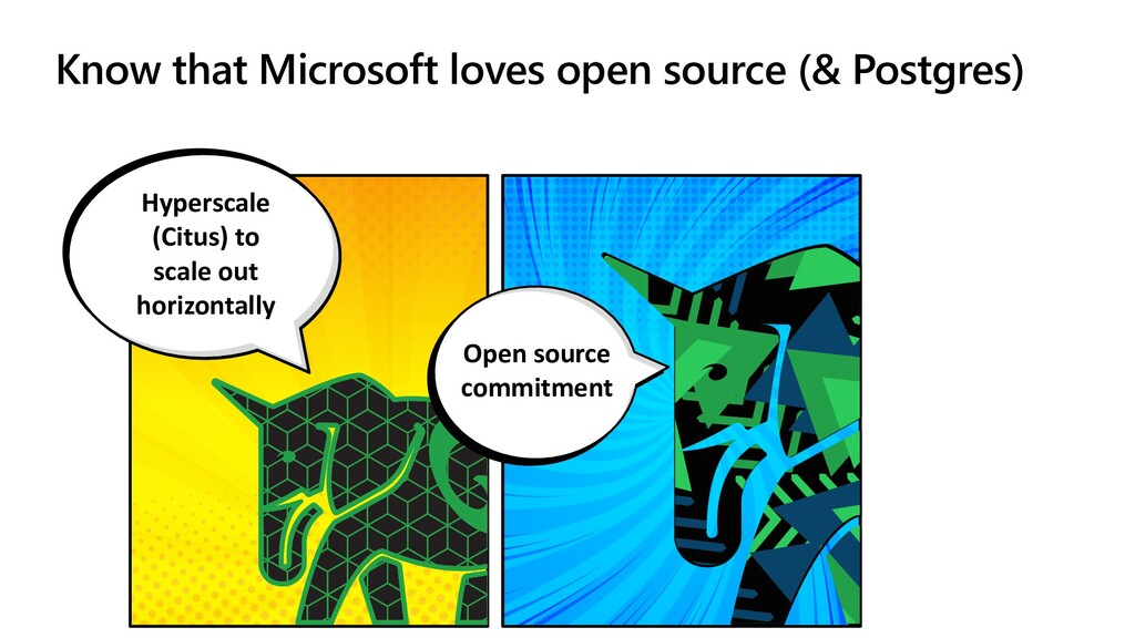 Know that Microsoft loves open source (& Postgr...